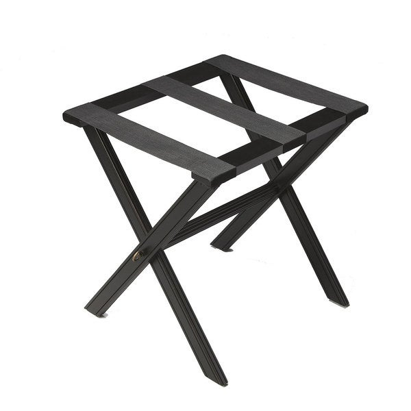 Dramatic Black Luggage Rack
