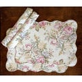 Pretty Peony Quilted Cotton Placemats (Set of 4)