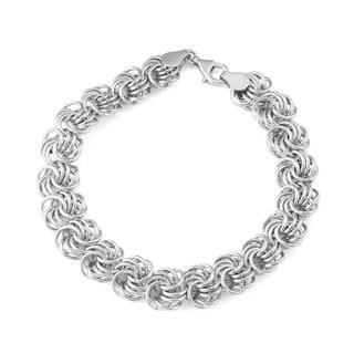 Gioelli Sterling Silver Rosetta Bracelet