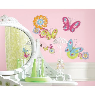 Brushwork Butterfly Peel and Stick Wall Decals