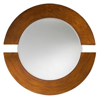Pluto Brown Wood Mirror