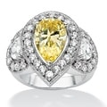 Lillith Star Canary/ White Cubic Zirconia Ring