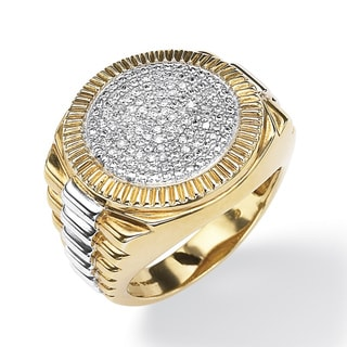 Isabella Collection Gold/ Silver Men's 1/6ct TDW Diamond Ring (H-I, I3)