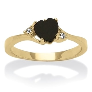 PalmBeach Onyx and Crystal Ring Naturalist