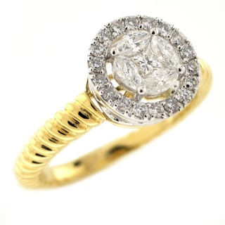 Beverly Hills Charm 14k Gold 1/2ct TDW Diamond Engagement Ring (H-I, SI1-SI2)