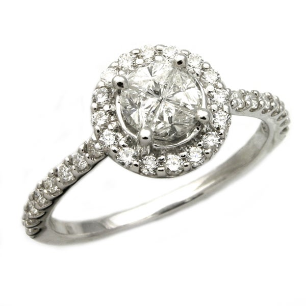 Beverly Hills Charm 14k Gold 3/4ct TDW Composite Diamond Engagement Ring (H-I, SI1-SI2)