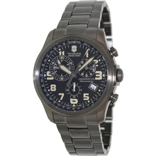 Victorinox Swiss Army Men's Infantry Black Stainless Steel Black Dial Swiss Quartz Watch
