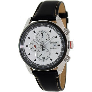 Citizen Men's Eco-Drive Black/ Silvertone Chronograph Watch