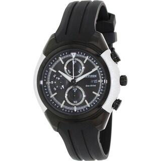 Citizen Men's 'Eco-Drive CA0286-08E' Black Rubber Black/ White Watch
