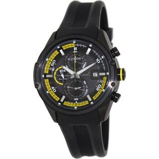 Citizen Men's Eco-Drive Black Rubber Strap Watch