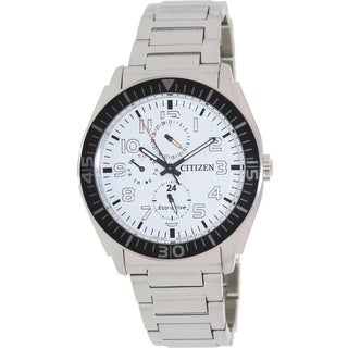 Citizen Men's Eco-Drive Stainless Steel White Dial Watch