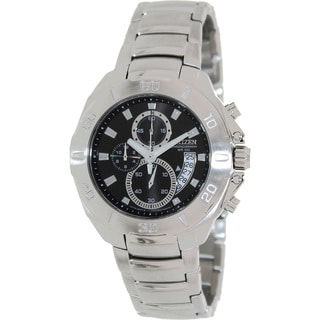 Citizen Men's Stainless Steel Black Dial Chronograph Watch