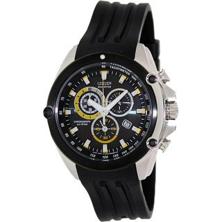 Citizen Men's Eco-Drive Black Rubber Strap Chronograph Watch
