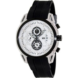 Festina Men's 'Crono' Black/ White Chronograph Watch