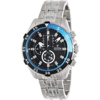 Festina Men's 'La Vuelta' Black Dial Chronograph Watch