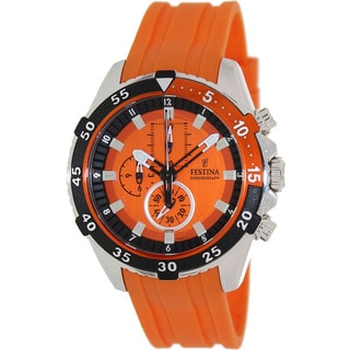 Festina Men's 'Tour De France' Orange Dial Watch