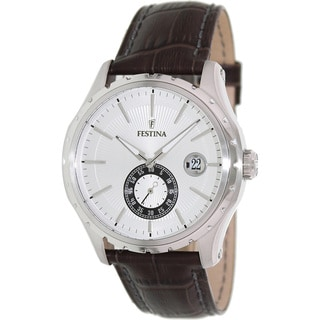 Festina Men's Sport Brown Leather Strap Watch