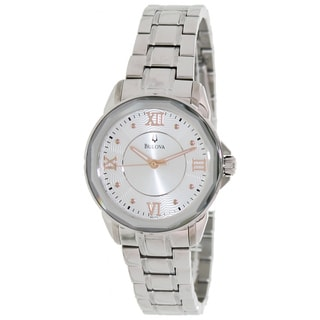 Bulova Women's Dress 96L172 Silver Stainless Steel Quartz Watch with Silver Dial
