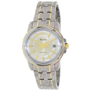 Bulova Men's Precisionist 98B156 2-tone Stainless Steel Quartz Watch with Gold Dial