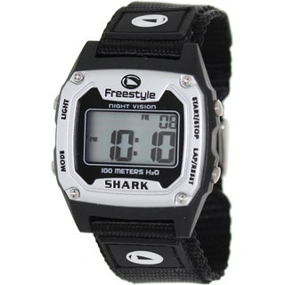 Freestyle Men's Shark Classic Black Nylon Digital Dial Quartz Watch