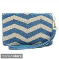 Handbeaded Chevron Pattern Wristlet Pouch Bag (India)