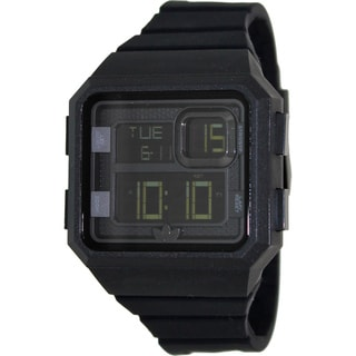 Adidas Men's 'Curitiba ADH2770' Black Rubber Digital Dial Quartz Watch