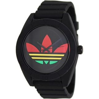 Adidas Men's 'Santiago' Black Silicone Watch