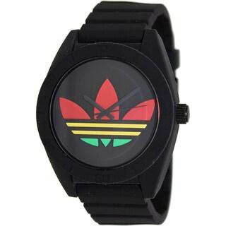 Adidas Men's 'Santiago' Black Silicone Watch