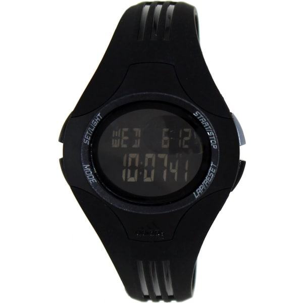 Adidas Women's 'Uraha' Black Rubber Strap Digital Watch