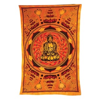 Love Lotus and Buddha Tapestry (India)