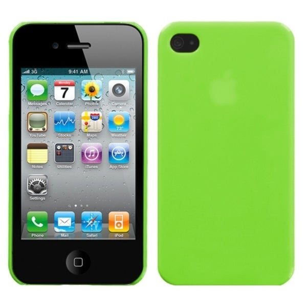INSTEN Apple Green Phone Back Phone Case Cover for Apple iPhone 4S/ 4