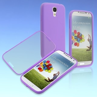BasAcc Purple/ Clear Frosted Book TPU Case for Samsung� Galaxy S4