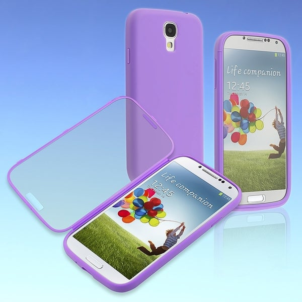 BasAcc Purple/ Clear Frosted Book TPU Case for Samsung© Galaxy S4