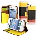 BasAcc Yellow/ Black/ Red Leather Wallet Case for Apple iPhone 4/ 4S