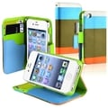 BasAcc Blue/ Khaki/ Orange Leather Wallet Case for Apple iPhone 4/ 4S