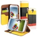 BasAcc Yellow/ Black/ Red Leather Wallet Case for Samsung� Galaxy S4