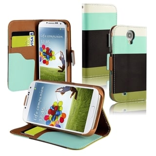 BasAcc Blue/ Black/ Green Leather Wallet Case for Samsung� Galaxy S4