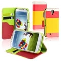 BasAcc Red/ Yellow/ Pink Leather Wallet Case for Samsung Galaxy S4