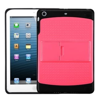 BasAcc Natural Pink/ Solid Black Gummy Stand Case for Apple iPad Mini