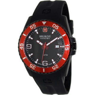 Swiss Military Hanowa Men's 'Ranger 06-4200-27-007-04' Black Silicone Swiss Quartz Watch