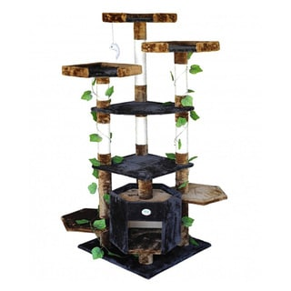 Go Pet Club 67-inch High Brown/ Black Cat Tree Furniture