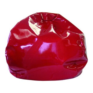 Extra Large Red Sparkle Vinyl Bean Bag