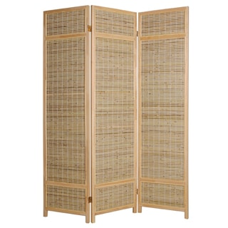 Horizontal Shaved Bamboo 3-panel Screen (China)