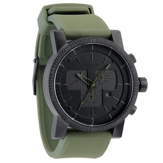 Nixon Men's 'Magnacon Black/ Green Watch