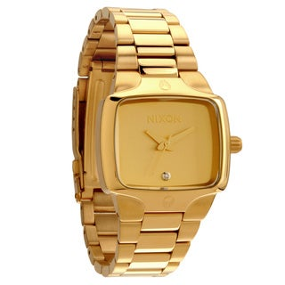 Nixon Women's Small 'Player' Goldtone Watch