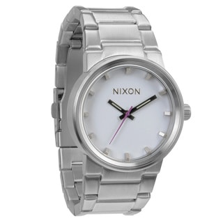 Nixon Men's 'Cannon' White Dial Watch