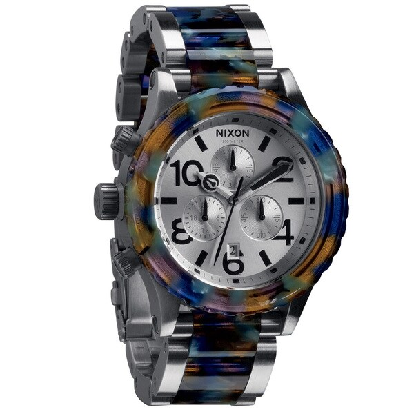 Nixon Men's '42-20 Chrono' Watercolor Acetate Watch