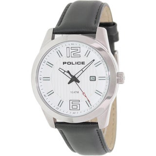 Police Men's Black/ White Analog Watch