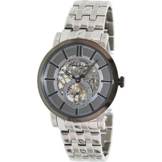 Kenneth Cole Men's KC9235 Automatic Skeleton Silver Watch