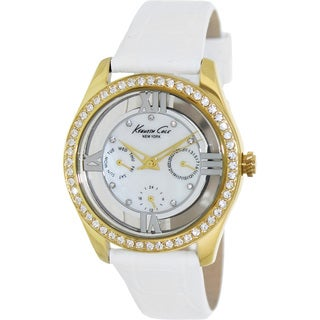Kenneth Cole Women's White/ Goldtone Watch